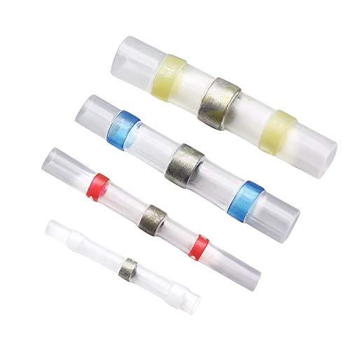 WFBD-CN Batterieklemmen 200pcs Wasserdicht Lotrings Wärmeschrumpfende Mittelanschlussbuchse Lötmuffe Klemme Kombination
