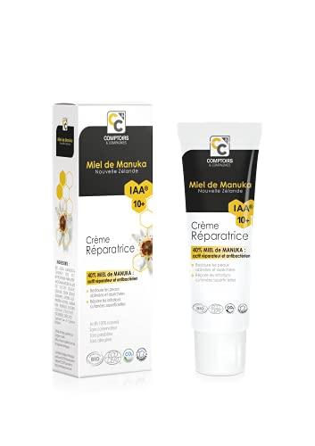 COMPTOIRS ET COMPAGNIES | Crème Réparatrice Bio 40% Miel de Manuka IAA10+ | 40ml