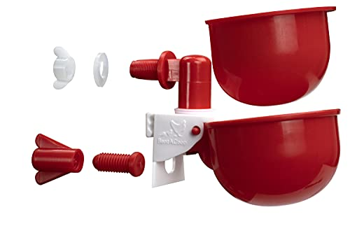 RentACoop DIY Autofill Chicken Cups for Any Watering System: Tubing, Hardware Cloth, Buckets, Barrels, and More! Pack of 3