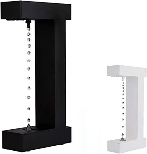 El reloj de arena antigravedad tiene luces LED y la lámpara de escritorio creativa con gota de agua flotante antigravedad de la pantalla de visualización se puede controlar con botones adecuados para