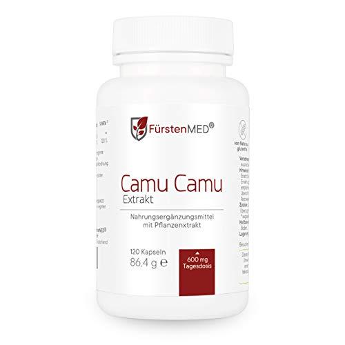 FürstenMED® Vitamin C Hochdosiert - Natürliche Camu-Camu Kapseln - Extrakt 4:1-120 Vegane Kapseln aus Deutschland ohne Zusatzstoffe