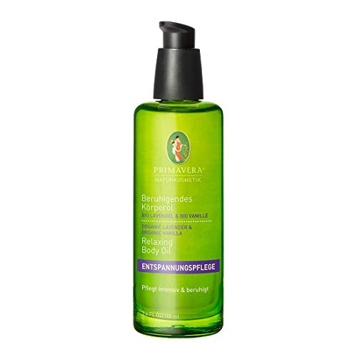 PRIMAVERA Beruhigendes Körperöl Lavendel Vanille 100 ml -Naturkosmetik - entspannend, pflegend - vegan