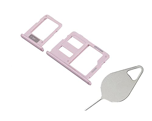 OnlyTech- Cajón para tarjeta SIM y tarjeta de memoria Micro SD compatible con Samsung Galaxy J5 2017 SM-J530 rosa + herramienta de extracción