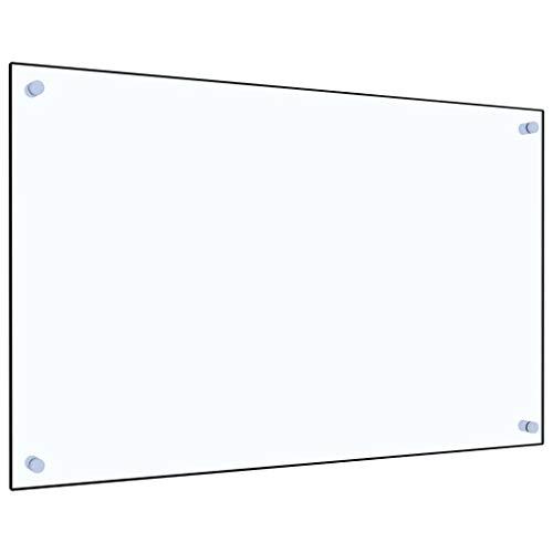 vidaXL Paraschizzi per Cucina Paraspruzzi Fornelli Resistente al Calore Pannello Splashback Parete Trasparente 80x50 cm in Vetro Temperato