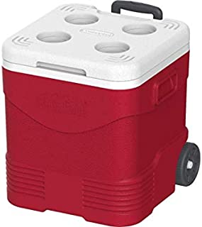 Cosmoplast MFIBXX122RD Keep Cold Plastic Picnic Trolley Ice Box 30 liter Red