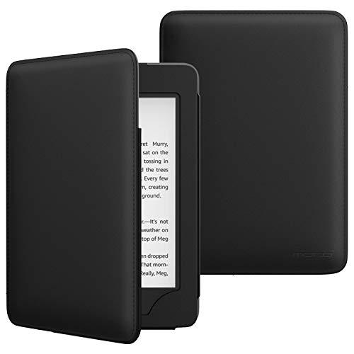 MoKo Hülle für Kindle Paperwhite (10. Generation – 2018), Premium Kunstleder Schutzhülle Smart Cover mit Auto Schlaf/Wach Funktion für Amazon Kindle Paperwhite E-Reader - Schwarz