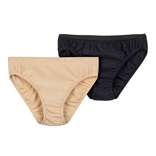 ExOfficio Women's Give-N-Go Bikini Brief, Black/Nude, Medium