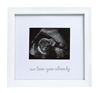 Little Pear We Love You Already Sonogram Frame Baby Ultrasound Frame Gender-Neutral Baby Accouchement Photo Frame White