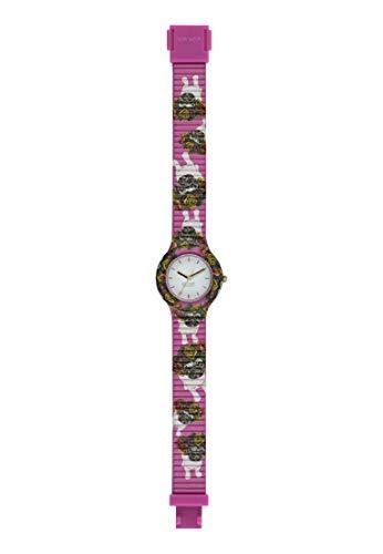 HIP HOP - Orologio da Donna - Collezione Animals Addicted - Cinturino in Silicone - Cassa 32mm - Impermeabile (Fucsia)