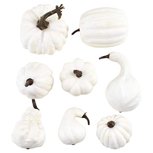 teyiwei 8 Stück Herbst Künstliche Kürbisse Ernte Kürbisse für Thanksgiving Halloween Festival Dekoration Home Party Dekor Lieferungen