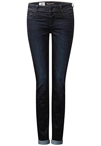 Street One Damen Jane Straight Jeans, dark blue rinsed optic, 33W / 30L