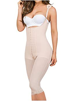 MARIAE 9152 Fajas Colombianas Levanta Pompis Reductoras y Moldeadoras Stage 2 BBL Compression Garments After Liposuction Postoperative Girdles for Women Beige 2XL