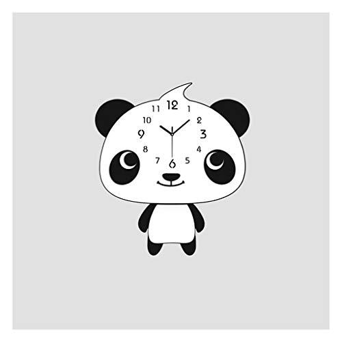 QTBH Reloj de Pared Moderna Sala de Estar Reloj de Pared Dormitorio de niños Reloj de Pared Reloj de Cuarzo Inicio Negro Panda Swing Reloj de Pared Reloj de Pared silencioso (Size : Medium)
