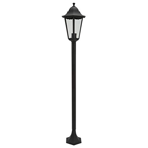 Ranex Classico Lampada da Terra in Alluminio E27, Nero, 130 x 23 x 23 centimeters