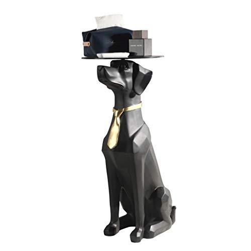 wenhui Stolik pomocniczy ze zwierzęciem, kreatywny stolik kawowy dla psa, ozdoby rzemieślnicze, figura zwierzęca jak niezwykły stół do salonu