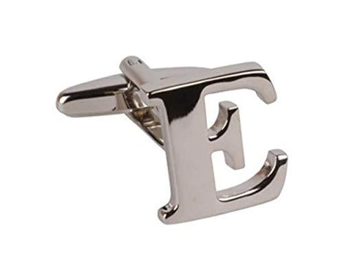 Global Accessorie Lettre liens E Silver Cuff avec boîte-cadeau