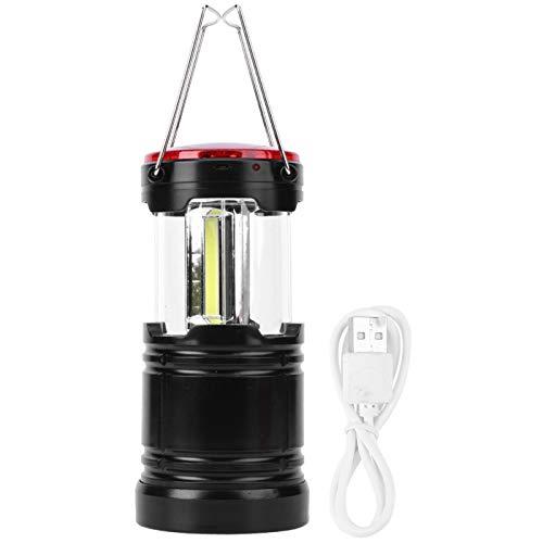 Annjom Luz LED para Acampar, linternas Recargables USB 2 en 1 para Interiores/Exteriores(Black, Pisa Leaning Tower Type)