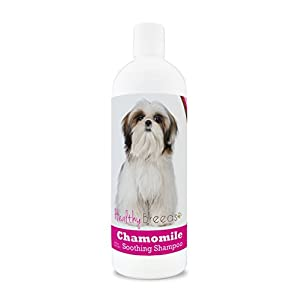 Healthy Breeds Chamomile Dog Shampoo & Conditioner with Oatmeal & Aloe for Shih Tzu – OVER 200 BREEDS – 8 oz – Gentle for Dry Itchy Skin – Safe with Flea and Tick Topicals