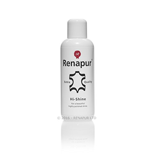 Renapur Hi-Shine Leather Polish (250 ml + Applicator Sponges) — Superior Leather Polish and Protector for Shoes, Boots, Chesterfield Furniture, Saddlery & Tack