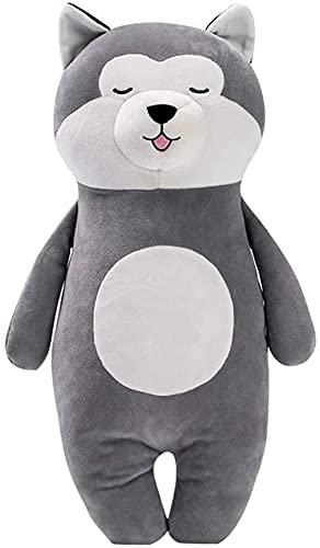 Almohada de juguete posición de pie almohada Husky 50cm juguetes de peluche realistas muñecos de peluche de dibujos animados Anime creativo regalo para niños