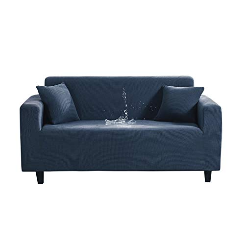 Funda impermeable para sofá elástica, fundas de sofá de color liso para sala de estar, protector de silla, funda de sofá de 1/2/3/4 plazas, 8-2 plazas, 145-185 cm