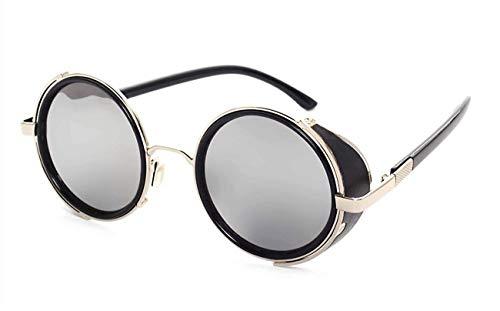 FGRYGF-eyewear2 Gafas de sol deportivas, gafas de sol vintage, Steampunk Sunglasses Women Round Glasses Goggles Men Side Visor Circle Lens Unisex Vintage Retro Style Punk Oculos De Sol M027