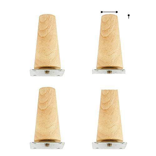 4 pezzi/set altezza 8/15/20 cm gambe mobili in legno massello, cono inclinato armadio divano letto tavolo e sedia piedini di ricambio piedi inclinati-repubblica Ceca, alto 8 cm