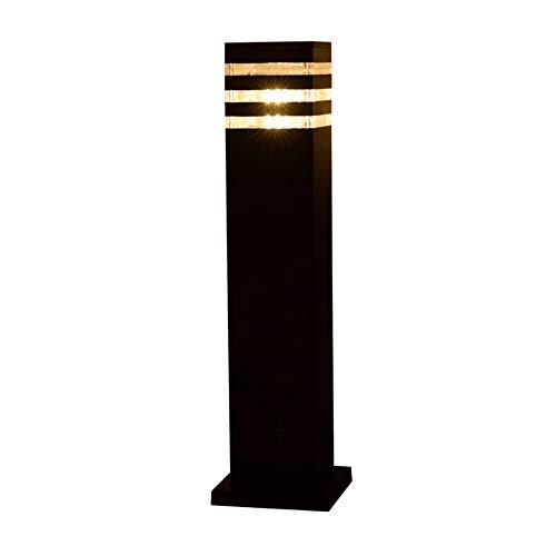 Wylolik Pilar Continental Victoria al aire libre mesa de cristal de la lámpara IP65 resistente al agua Jardín del anuncio del bolardo luz E27 columna decoración de la lámpara de la calle poste de luz