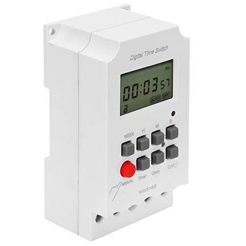 KG316S Microcomputador Temporizador Observación más clara Temporizador resistente al calor Interruptor de control Interruptor de tiempo digital Segundo control para control de equipos