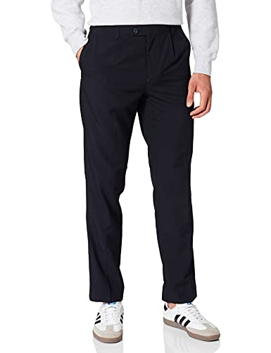 Marca Amazon - find. Pantalones de Vestir para Hombre, Negro (Black), 40W / 31L, Label: 40W / 31L