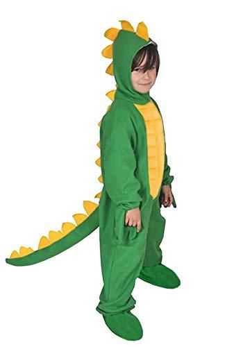 Dinosaurier Grün Dino Drache Kinder Kostüm 110 - 116 für Fasching Karneval Rummelpott Kinderkostüm