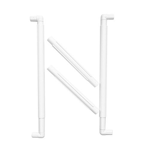 BESTOMZ Marco de Bordado de Plástico para Punto de Cruz Acolchado Aguja Patchwork 43.1 x 27.9 cm (Blanco)