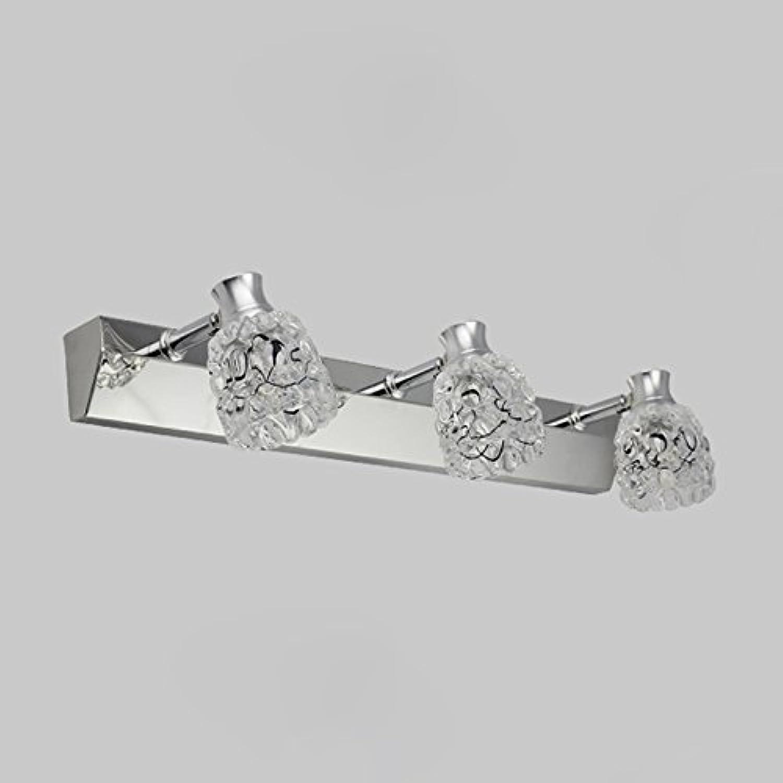 QWM-Badspiegellampe Led Spiegel Vorne Lampe Spiegel Licht Badezimmer Europische Moderne Minimalistische, Edelstahl Badezimmer Spiegel Lampe Led Lights QWM-Bad Wandleuchten ( Farbe   3 Lamps )