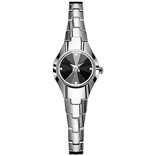 WYZQ Reloj para Mujer Tendencia de Moda Reloj Resistente al Agua Personalidad Reloj Femenino pequeño Exquisito Dial pequeño Cinturón de Acero Reloj de Cuarzo para Mujer (Color: A) (Color: A), Relojes