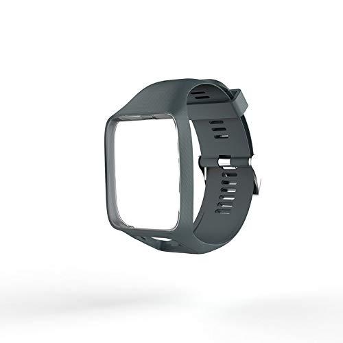 Peanutaoc - Correa de silicona para reloj Tom Tom 2 3 Series para TomTom Runner 2 3 GPS Watch