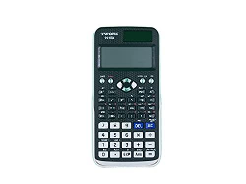Twork Calculadora Científica 240 Funciones Modelo 991EX Apta para Selectividad EBAU Bachillerato ESO Incluye Tapa Protectora Blanca. Física Química Matemáticas Tecnología Mecánica Cálculo.