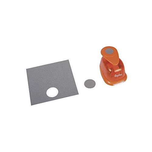 Rayher Hobby 8964000 Motivstanzer Rund/Kreis, mit Zierrand, ø 2,54 cm- 1 Zoll, geeignet für Papier/Karton bis zu 200g/m²