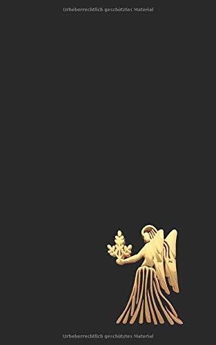 Notizbuch: Notizheft mit 120 karierten Seiten, squared paper, graph paper, Format 5x8, ca. DIN A5, Sternzeichen Jungrau, Virgo, Virgin.