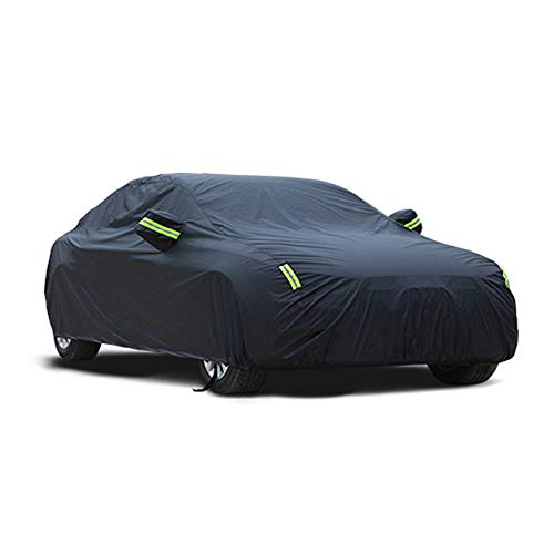 Fundas para Coche Compatible con Fiat Regata Sedan Impermeable Funda de Coche Exterior Aislamiento Transpirable Auto Lona Resistente al Polvo Anti-arañazos Cubierta de Coche, Negro