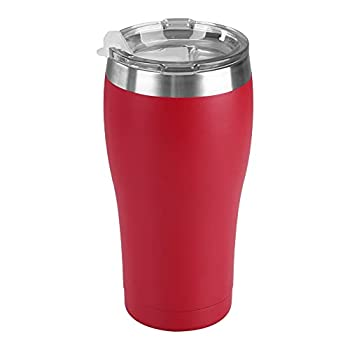 Tahoe Trails 20 oz Stainless Steel Tumbler with Lid Double Wall Vacuum Insulated Travel Cup Great for Cold or Hot Drinks Chinese Red