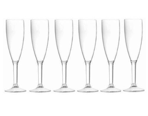 Lot de 12 flûtes à champagne de grande qualité en polycarbonate avec l'élégance du verre et la résistance du plastique Idéales pour les pique-niques en plein air, les piscines, les barbecues, le jardin Lavables et réutilisables Passent au lave-vaisselle