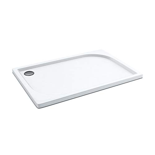 Duschwanne/Duschtasse AQUABAD® Comfort Praktica | Maße: 80x120cm rechteckig | Sehr stabil und flach