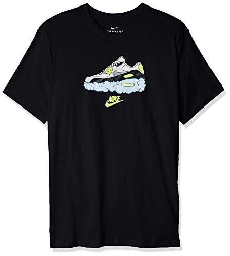 NIKE Air MAX 90 T-Shirt, Negro, M Mens