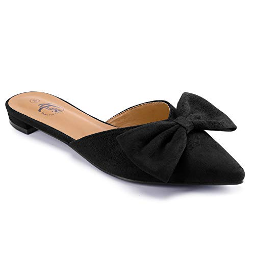 Top 10 best selling list for mule flat shoes with bow