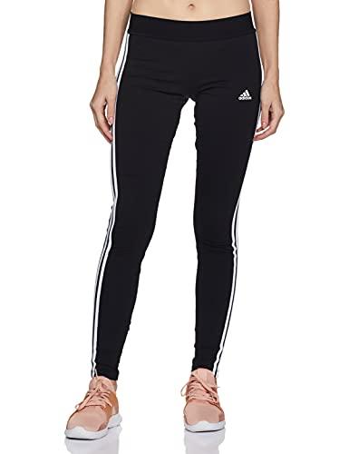 adidas 3-Stripes, Leggings Donna, Nero Bianco, XS