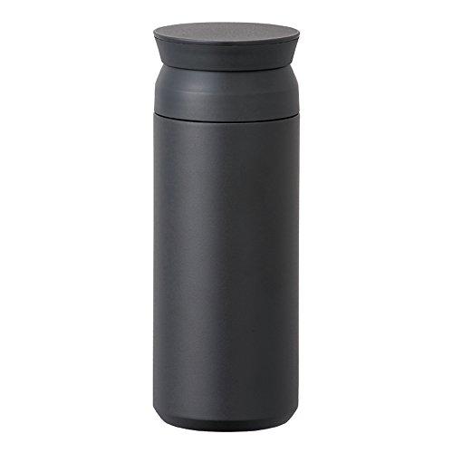 Travel Tumbler - Insulated Bottle (Black, Large)