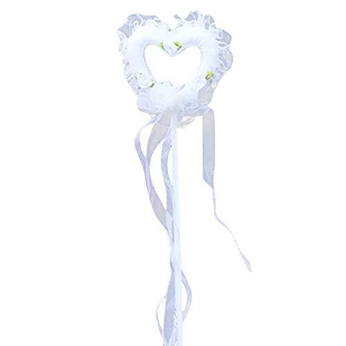 VEMOW Heißer Verkauf Weißer Engel Federflügel Stick Und Halo Stirnband Für Karneval Cosplay Party Kostüme(B, Freie Größe)