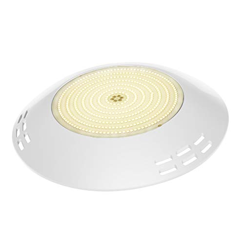 LyLmLe Foco LED Piscina Relleno de Resin,35W Lámpara Superficie extraplano (equivalente 300W halógena bombilla),2800lm, IP68 Impermeable, 12V AC/DC, 3000K Blanco Cálido