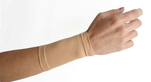 """Tatjacket Tattoo Cover Up Concealer Sleeve (2-Pack) 4"""" Wrist or Instep Coverage, UPF 50 Protection, Slip Free, for Men & Women (Unisex), TAN, ONE Size"""