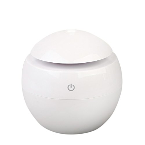 USB Humidificateur Ultrasonique Diffuseur d'Huile Essentialle Arôme Air Purificateur 130ml - Blanc